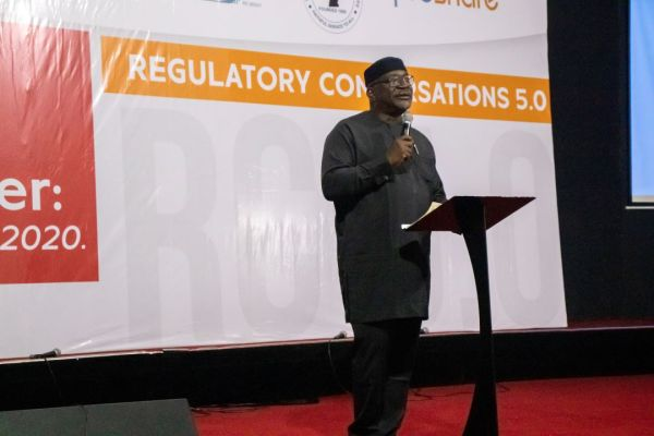 Soji Apampa speaking at the 5th Regulatory Conversations event