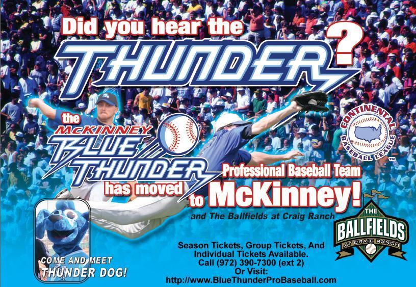 McKinney Blue Thunder 2008 pocket schedule