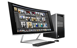 HP Specialty Z Displays Imagine yourself in the curve