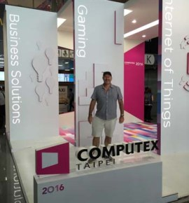 Computex Trade Show 2016 MD Geoff Smith