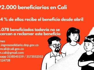 Ingreso solidario busca ocho mil beneficiarios caleños