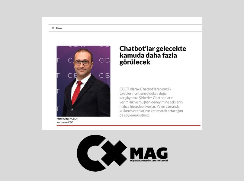 CEO'muz Mete Aktaş CXMAG'da görüş ve öngörülerini paylaştı