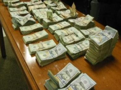 cash seized by customs