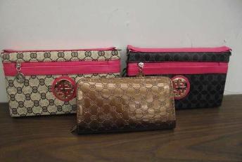 Customs seizure of counterfeit handbags.