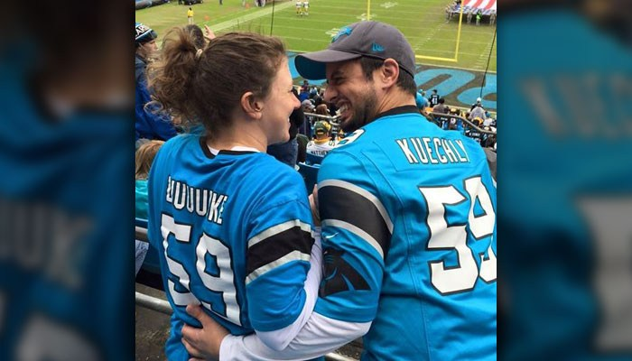 Panther fans Kevin Vaughan and Jennifer Woiderski_124087