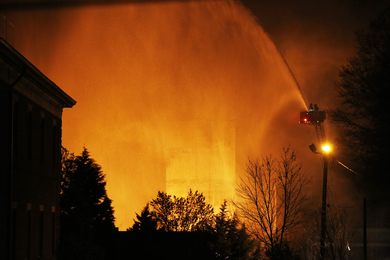(Jeff Reeves_CBS North Carolina) downtown fire_365737