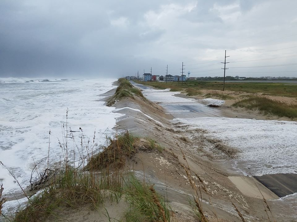 A look at Highway 12 just north of Hatteras Village