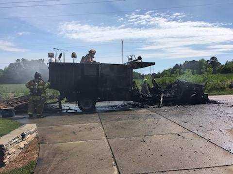 CLAYTON TRUCK FIRE CREDIT CLAYTON FIRE1_1556134021963.jpg.jpg