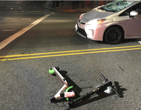 E-scooter accident