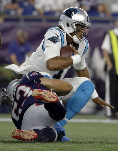 0e52f178 Panthers QB Newton leaves exhibition game with foot injury – CBS 17.com