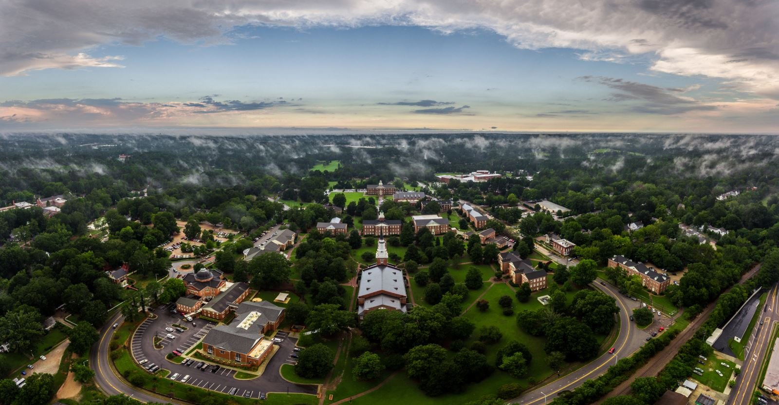 Drone picture of campus