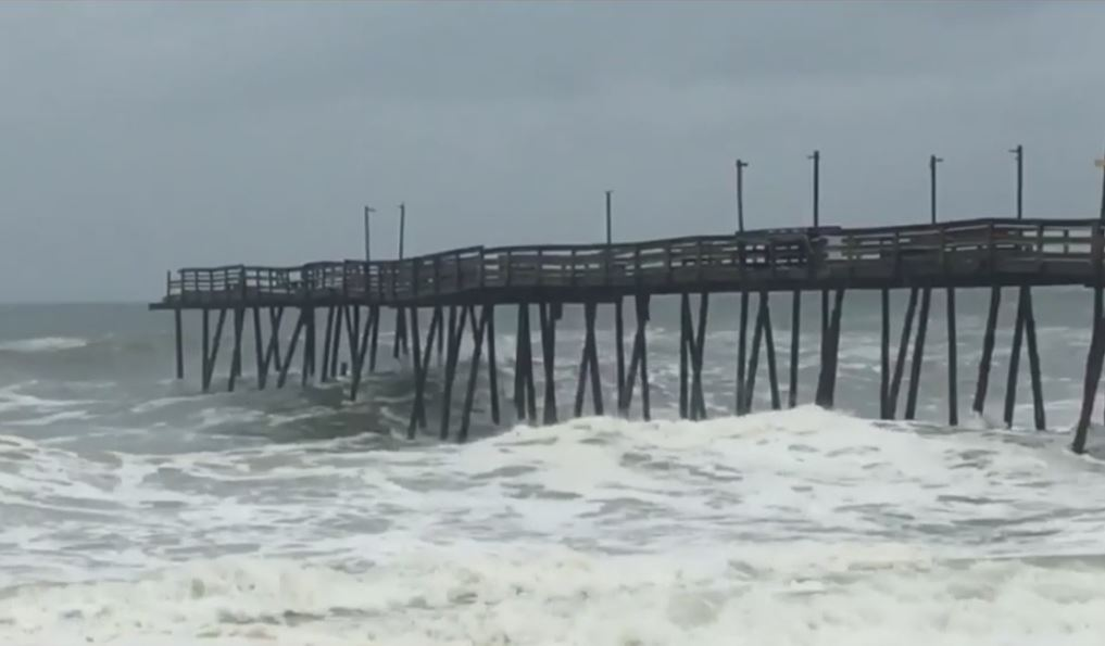 Hurricane Dorian rips away large part of Outer Banks pier