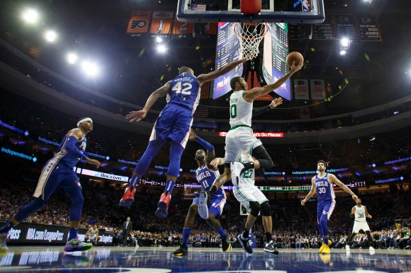 76ers top Celtics 107-93 in 1st battle of East favorites
