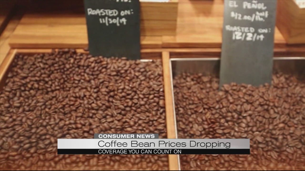 Price of coffee beans going down
