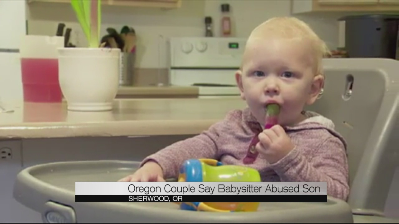 Oregon couple say babysitter abused son_173085