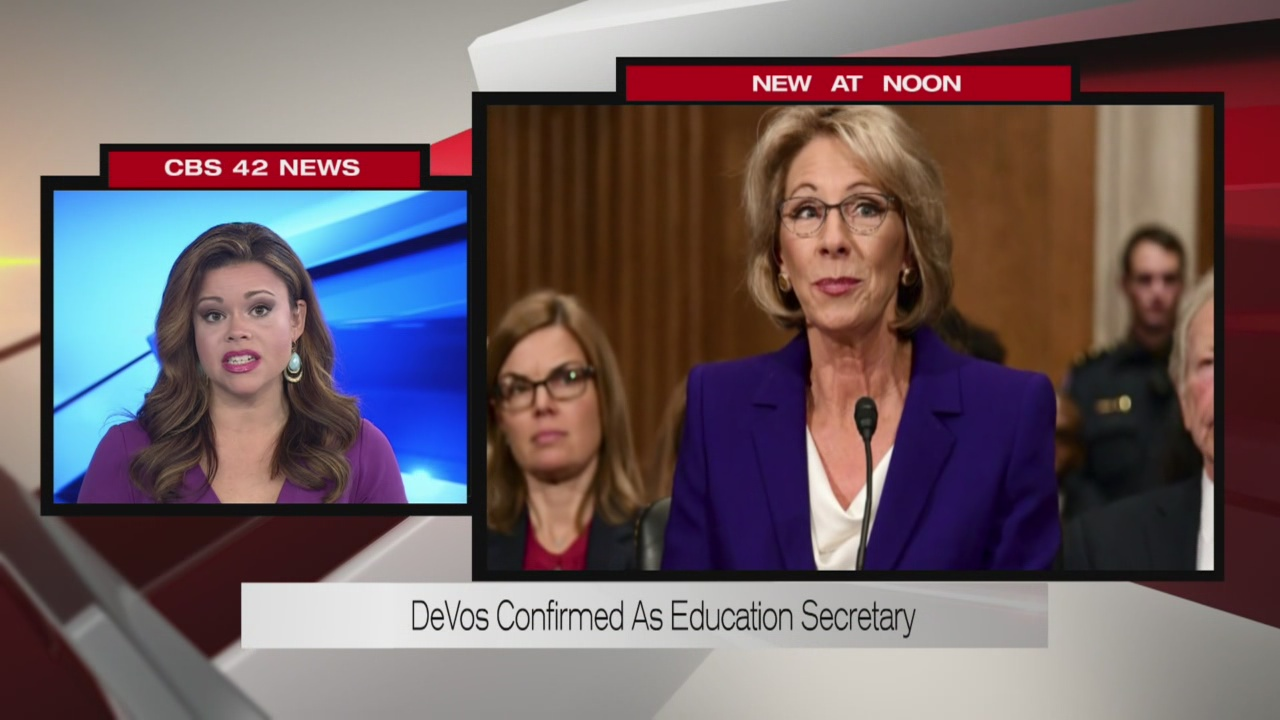 Education Secretary confirmation