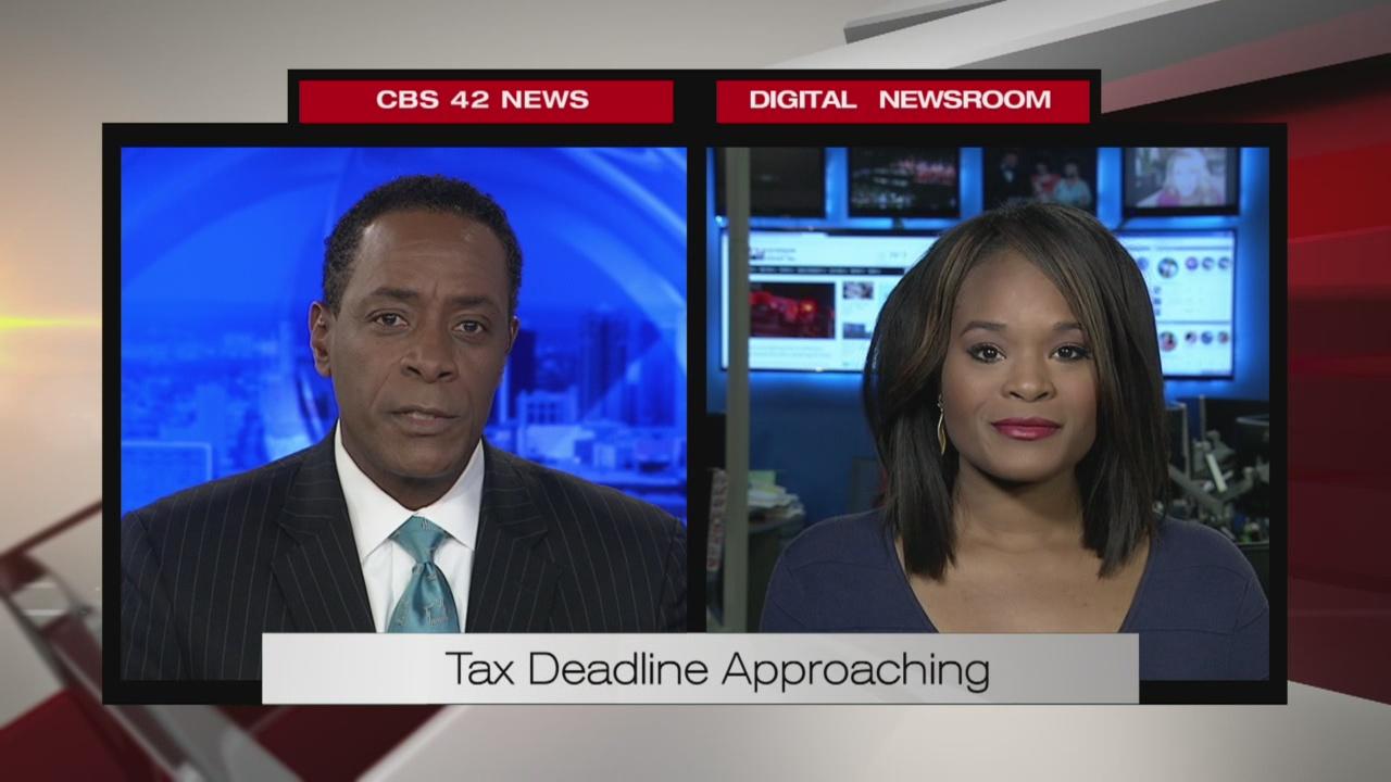 Tax deadline approaching