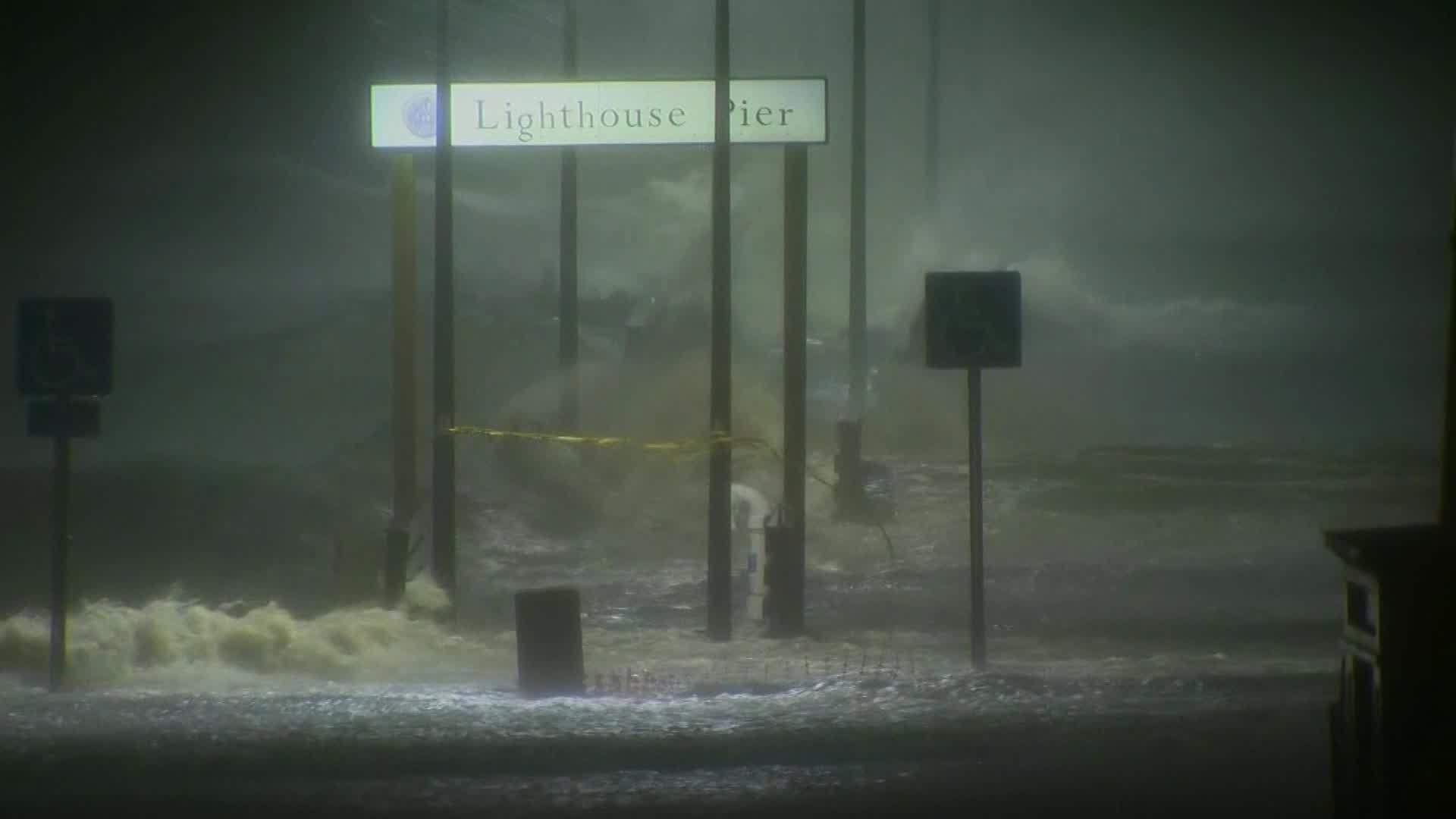 storm surge in biloxi at lighthouse pier_321541