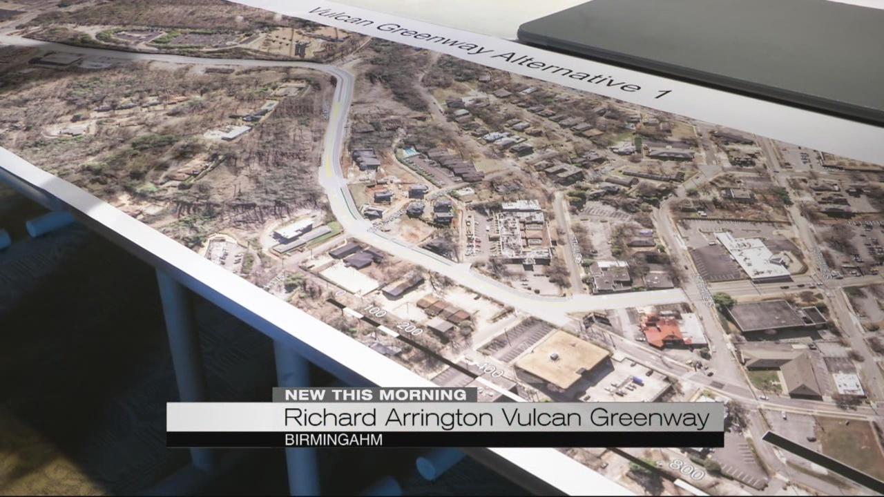Birmingham considers Richard Arrington Vulcan Greenway