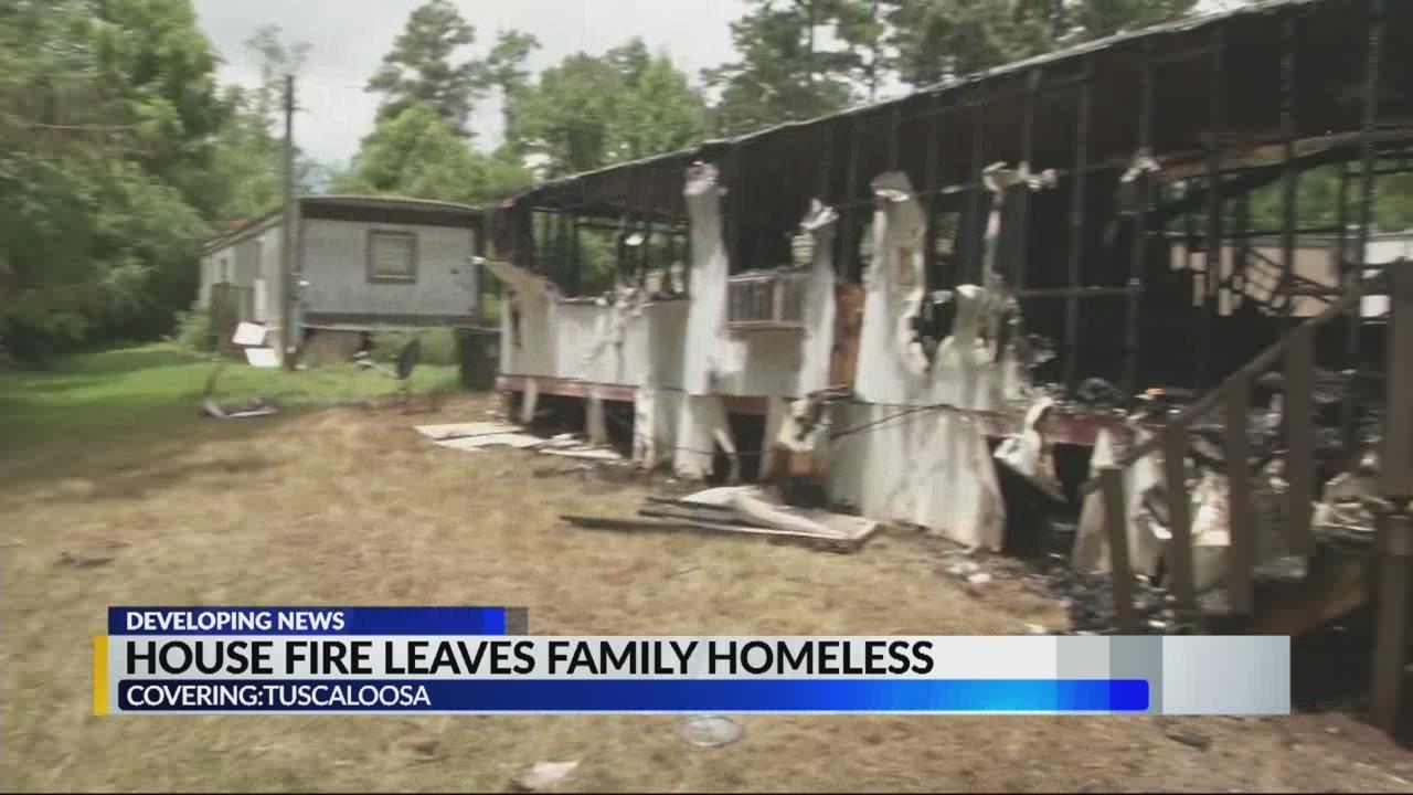 House fire leaves Tuscaloosa family homeless
