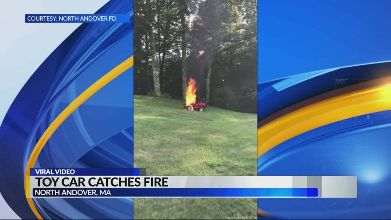 toy car catches fire