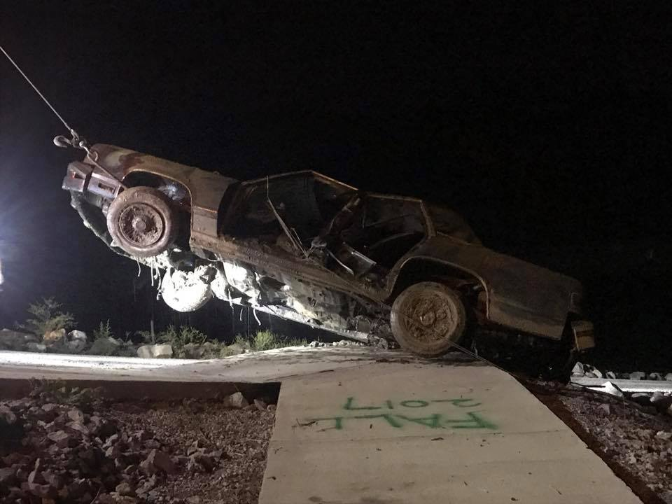 A car is pulled from Smith Lake