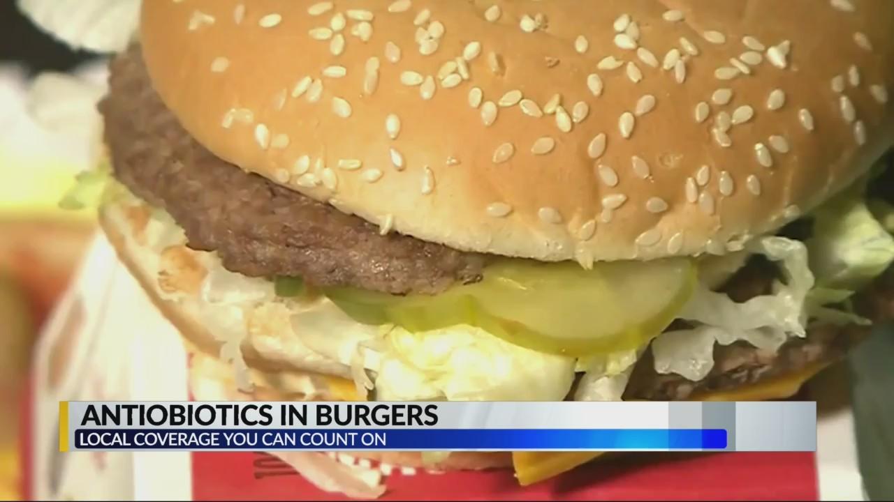Antibiotics in burgers