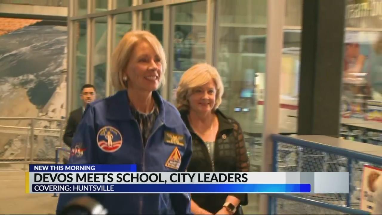Betsy DeVos in Rocket City