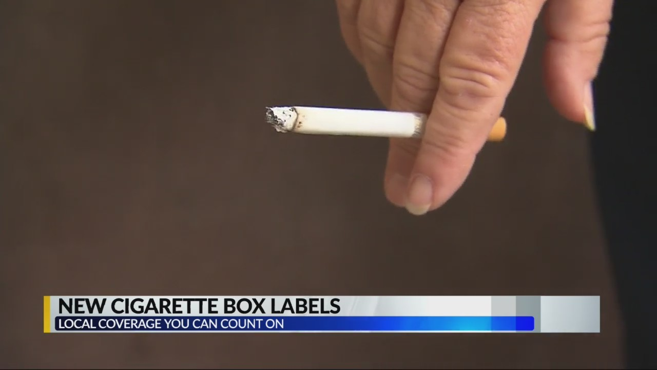 New cigarette box labels