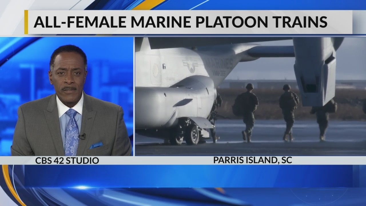 All-Female Marine Platoon Trains