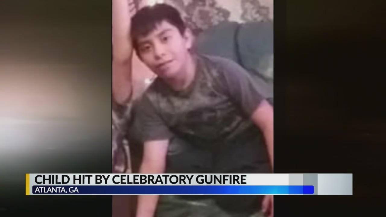 Atlanta child injured by celebratory gunfire