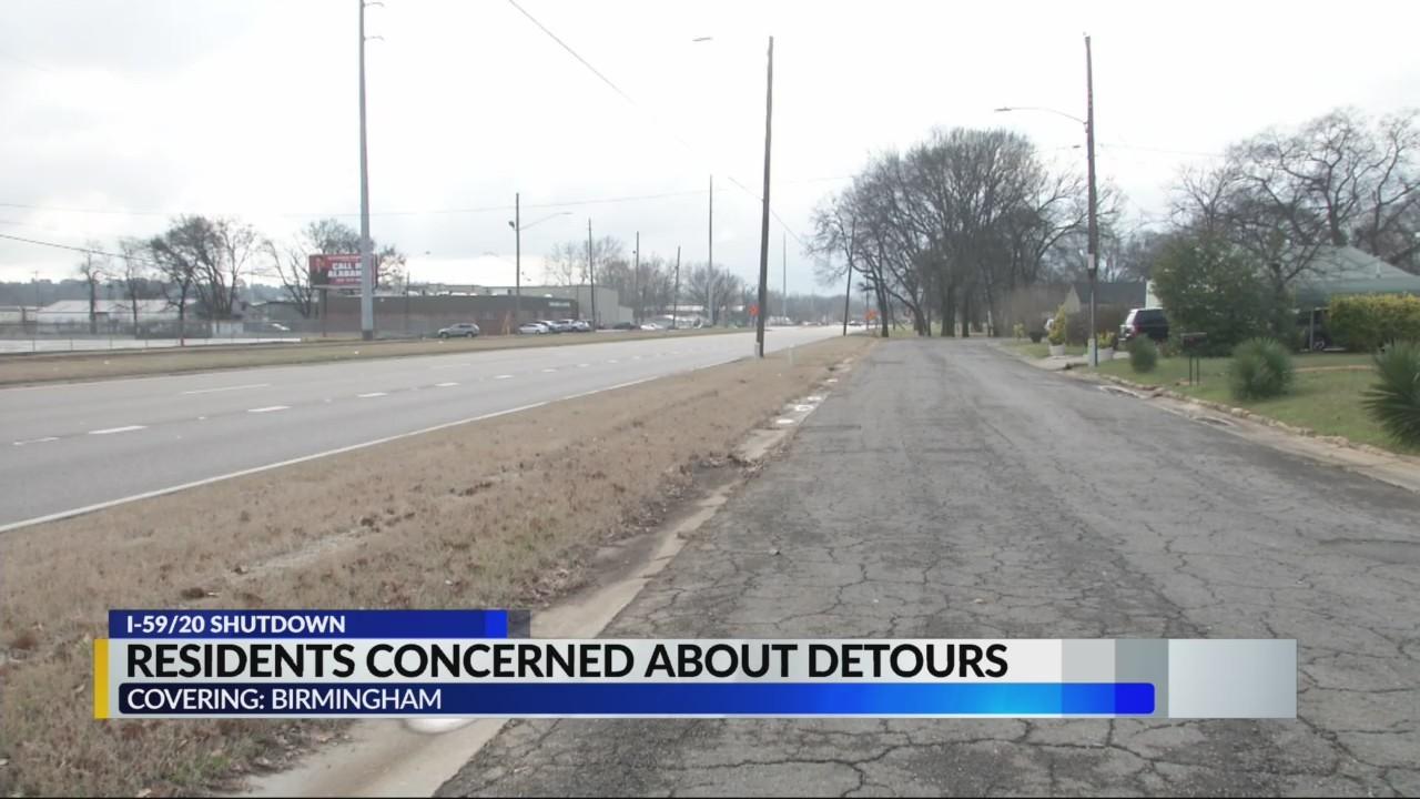 Residents concerned about I-59/20 detours