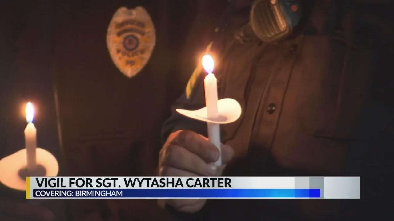 Vigil for Sgt. Wytasha Carter