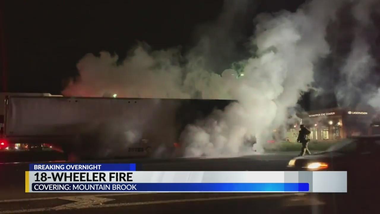 18 wheeler fire on 280