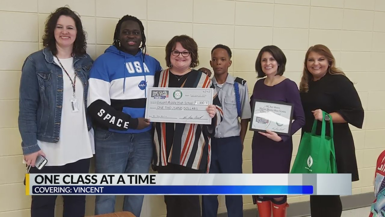 One class grant: Vincent Middle High School