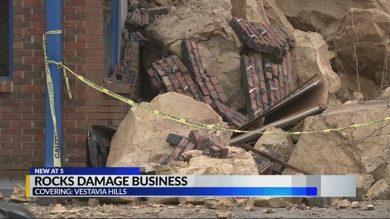 Rockslide damage Vestavia Hills business