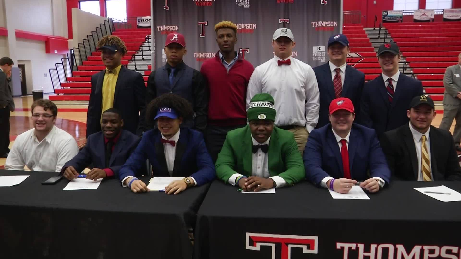 Thompson HS Signings