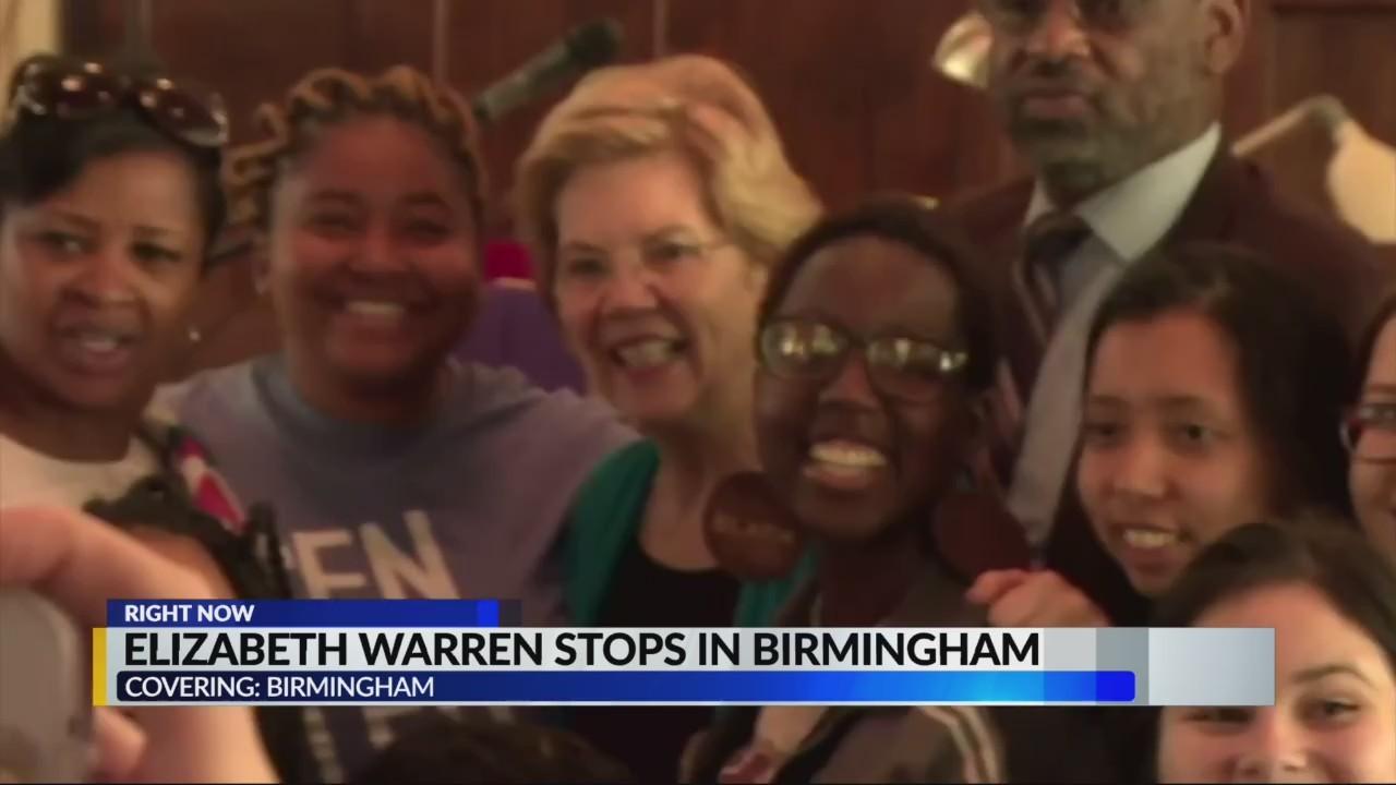 Elizabeth Warren stops in Birmingham