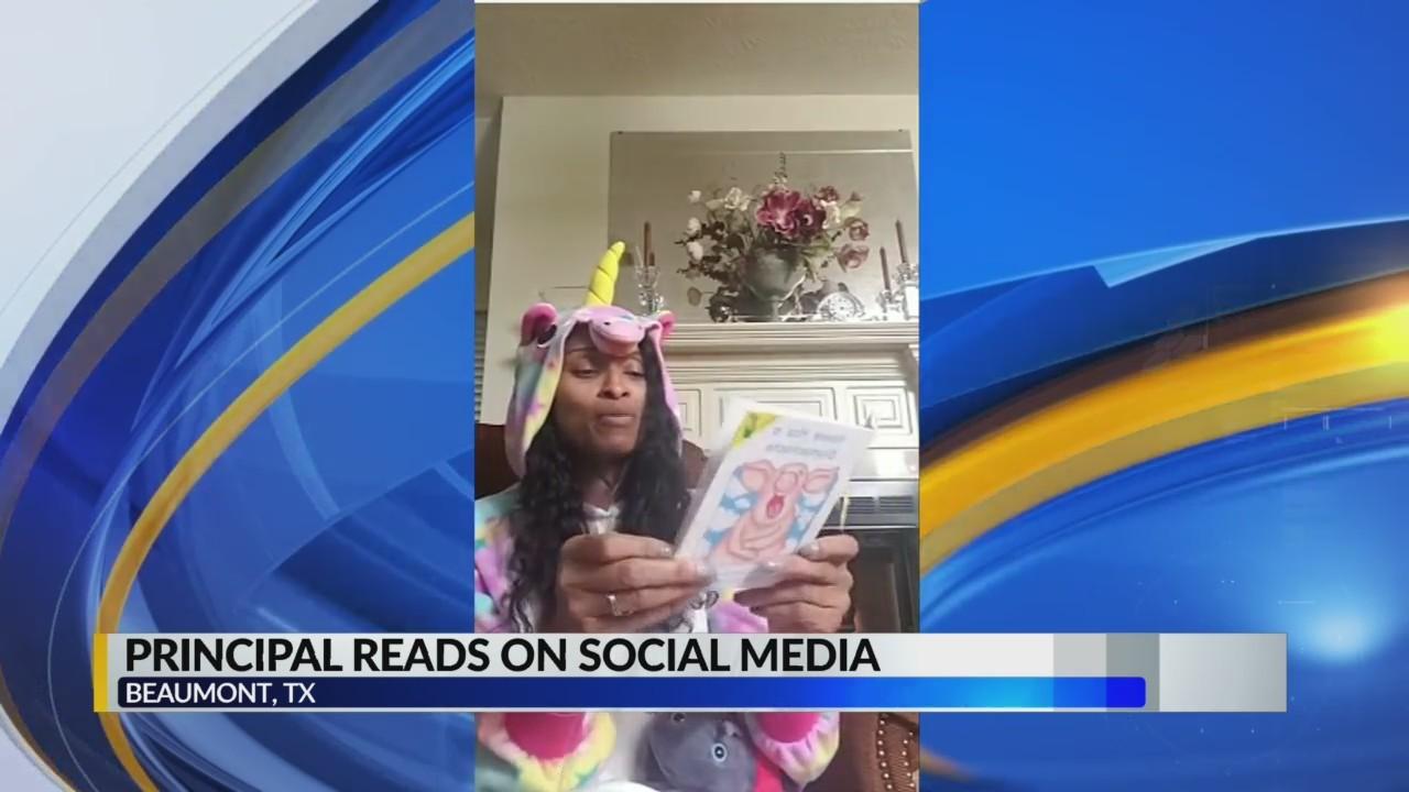 Principal reads on social media