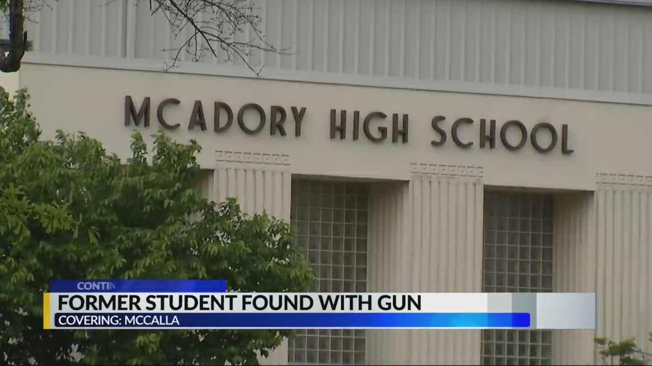 Former student found on school campus with gun