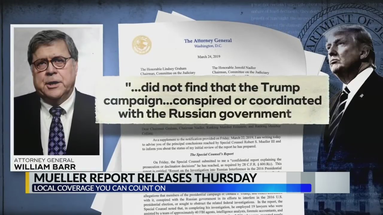 Mueller report to be released Thursday