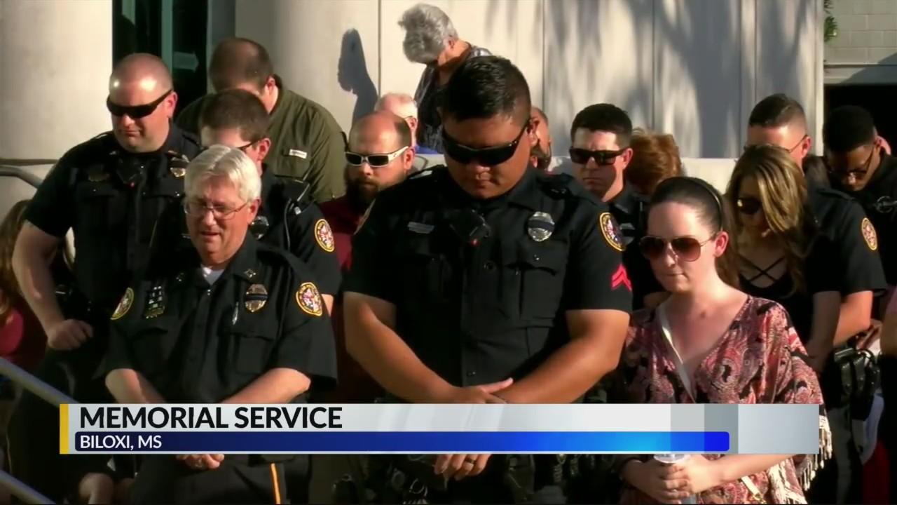Memorial service for Biloxi Mississippi fallen officer