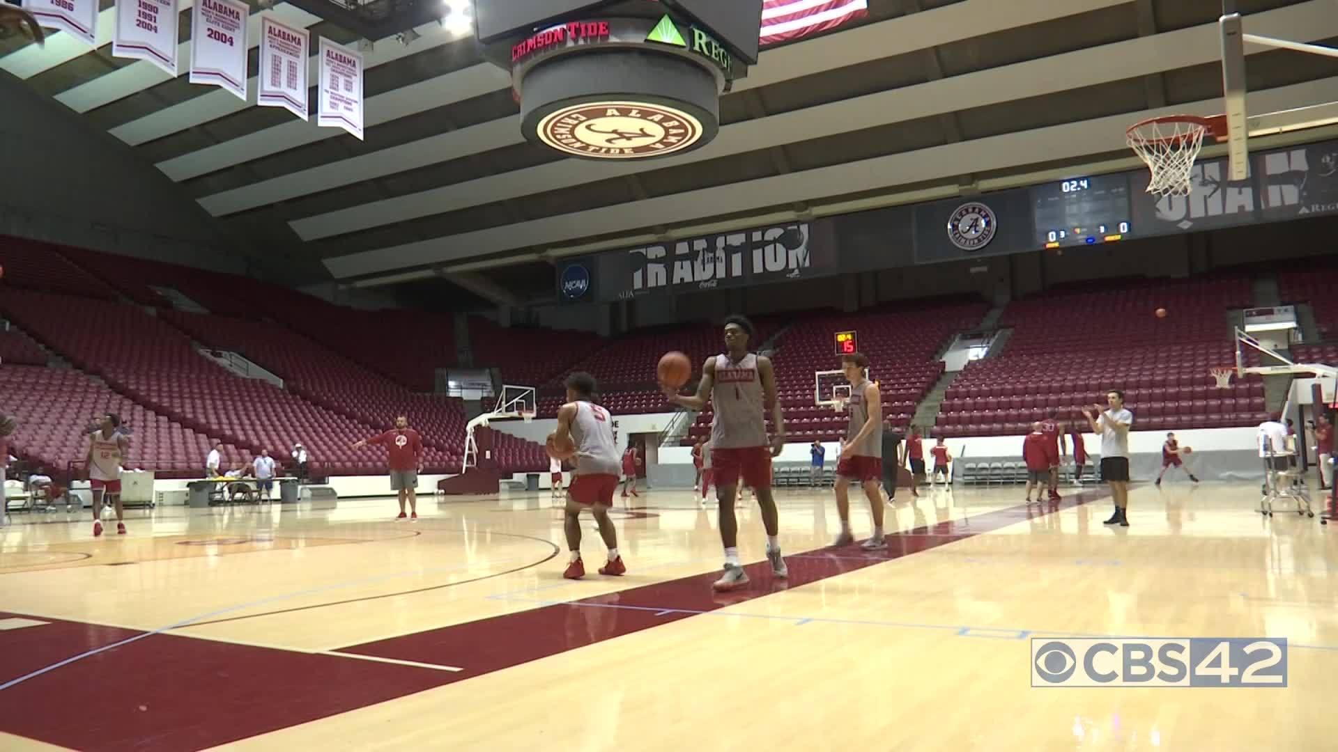 Alabama open basketball practice