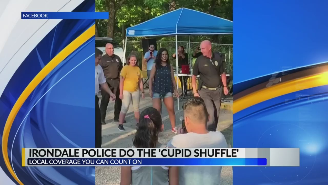 Irondale Police do the Cupid Shuffle