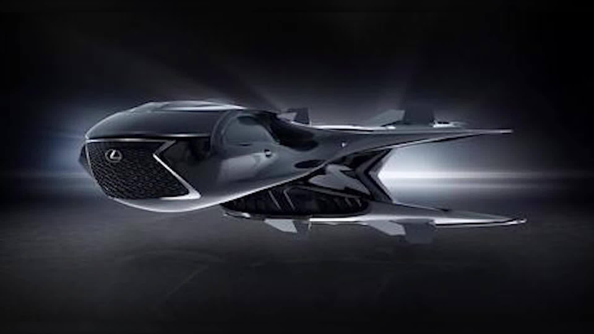 Lexus goes intergalactic space craft concept jet
