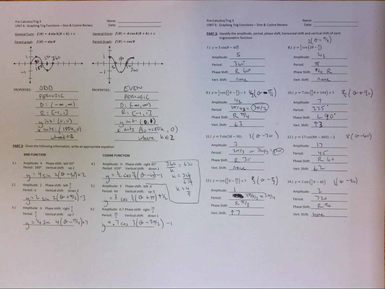 Wetzel Greg Y Unit 4 Gr Ph G Trig Ometric Functi S