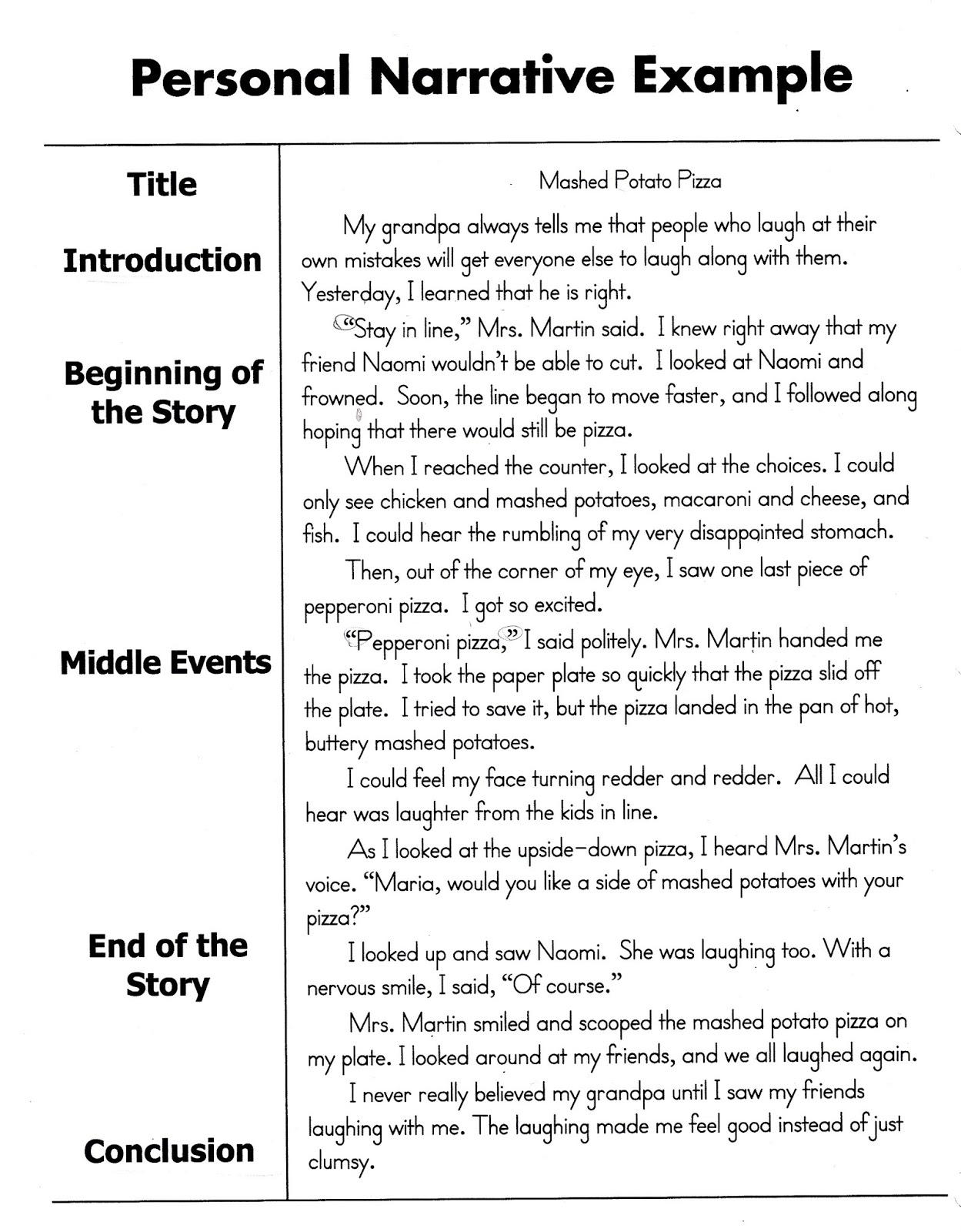 Third Grade Personal Narratives