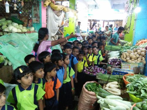 Field trip to Vegetable market
