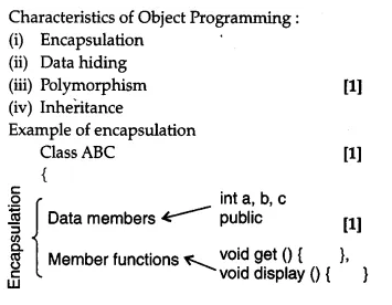 NCERT Solutions for Class 12 Computer Science (C++) - Object Oriented Programming in C++-2