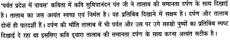 Chapter Wise Important Questions CBSE Class 10 Hindi B - पर्वत प्रदेश में पावस 22